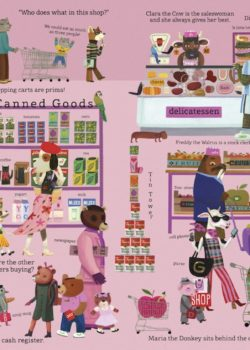 As the pages unfold, Show & Tell Me The World guides readers through the nuances of everyday life. Otto, the young furry protagonist, is seen on every page partaking in various daily activities. The previously humdrum tasks of eating a meal at the table or being tucked in at night are playfully presented alongside exciting episodes of riding in an airplane or attending a concert. The aesthetically entrancing scenes are grouped into categories such as the four seasons, athletics, the arts, a day at school, or even the mysterious and uncharted world below the sea. Each page of Show & Tell Me The World is filled with multitudinous details, which illustrator Tom Schamp has molded to suit both his bold style and the ever-unsatiated curiosities of children. Tom Schamp is a renowned Belgian illustrator. After extensive studies at Sint-Lukas Brussels University College of Art and Design, he developed a style of his own using acrylic paint upon cardboard. Schamp designs for a rich mixture of media including children's books, newspapers, postcards, and toys. His illustrative companion, Otto, is the star of many adventures.