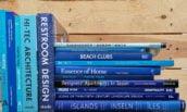 stock libri blu